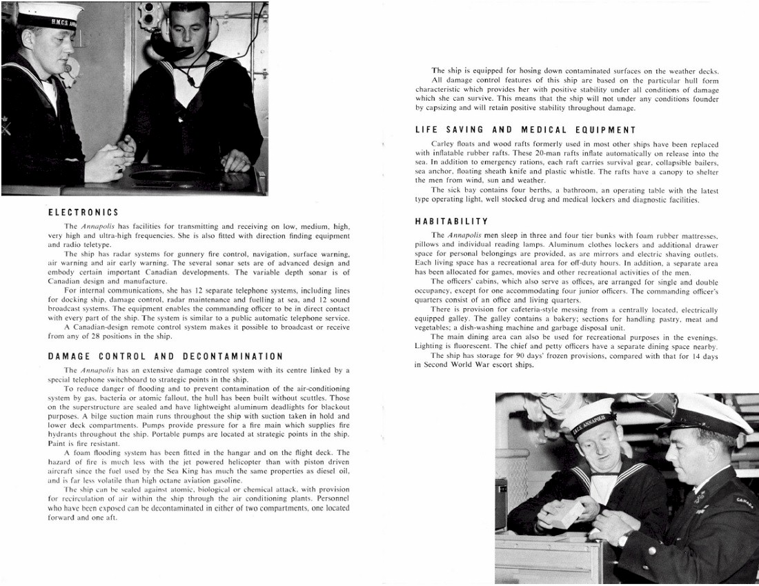 HMCS ANNAPOLIS 265 COMMISSIONING BOOKLET - PAGE 6 & 7
