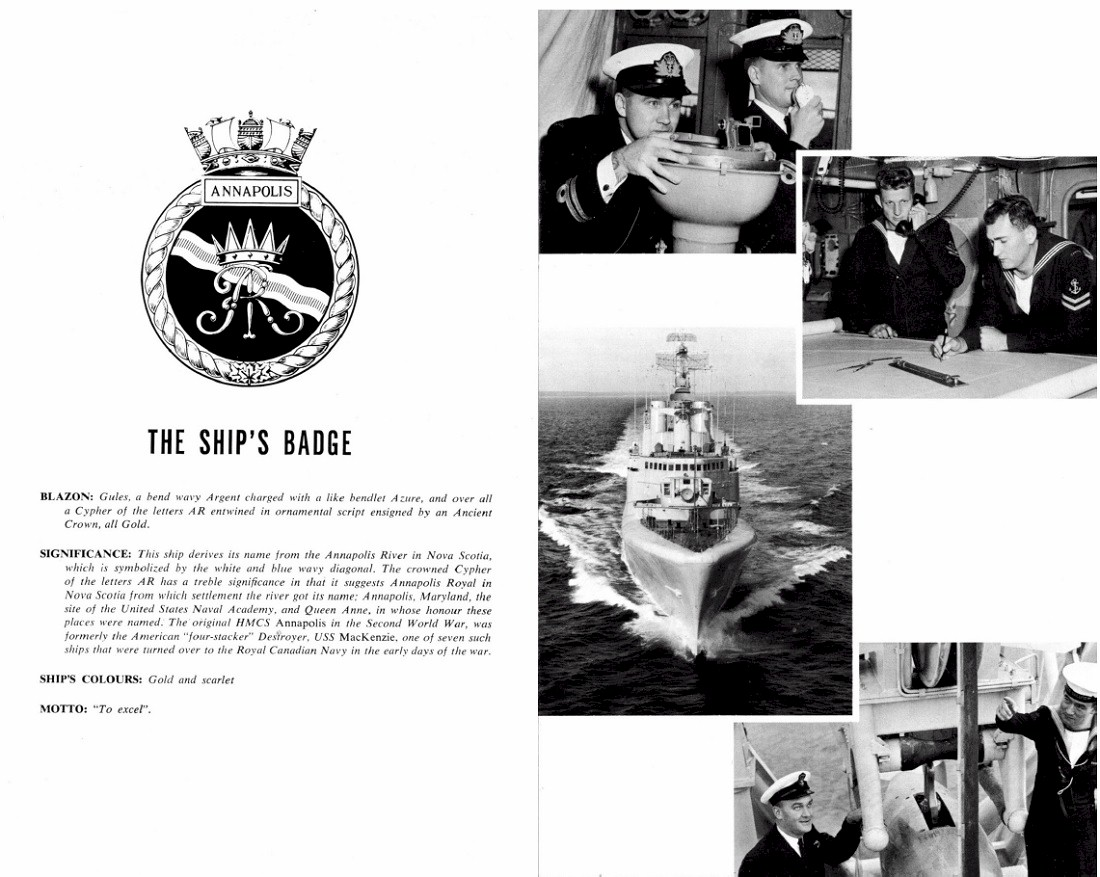 HMCS ANNAPOLIS 265 COMMISSIONING BOOKLET - PAGE 11 & 12