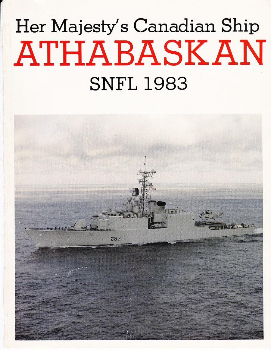 HMCS ATHABASKAN SNFL 1983 - COVER