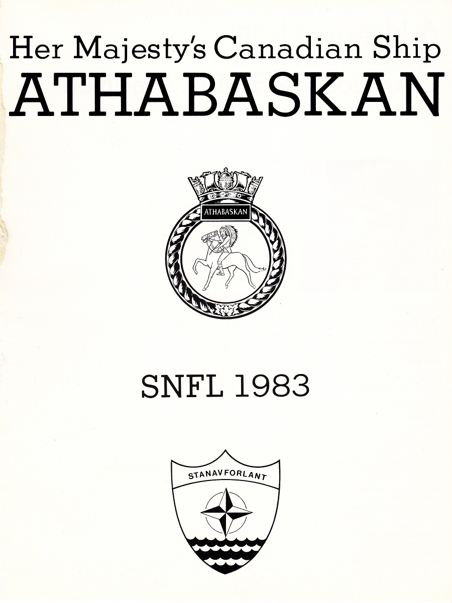 HMCS ATHABASKAN SNFL 1983 - PAGE 1