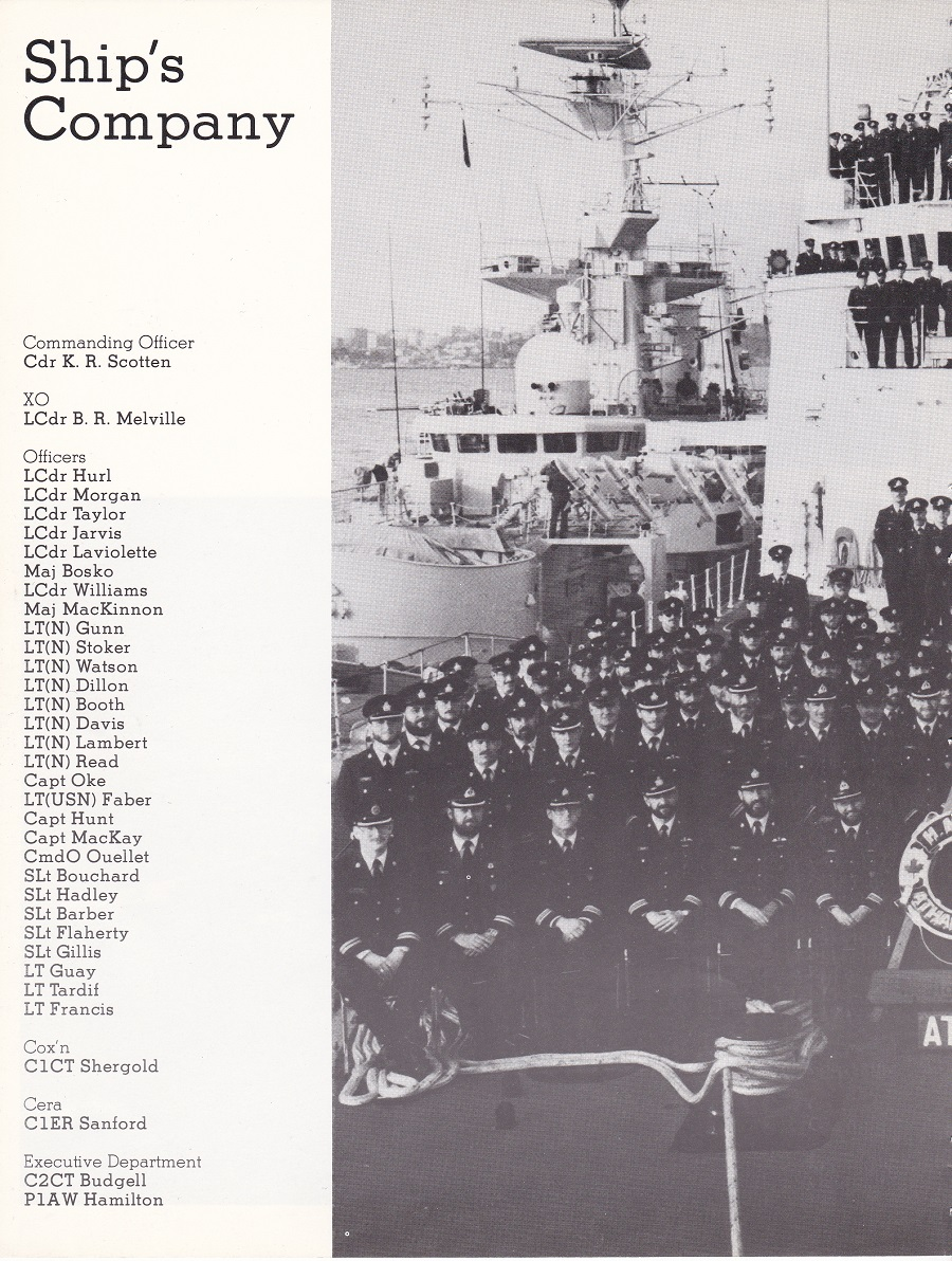 HMCS ATHABASKAN SNFL 1983 - PAGE 6