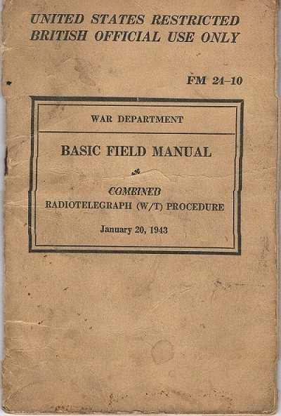 Basic Field Manual, Combined Radiotelegraph (W/T) Procedure -20 Jan 1943 - Cover