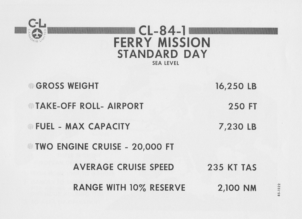 CANADAIR CL-84-1 V/STOL AIRCRAFT PRESENTATION PAGE 7