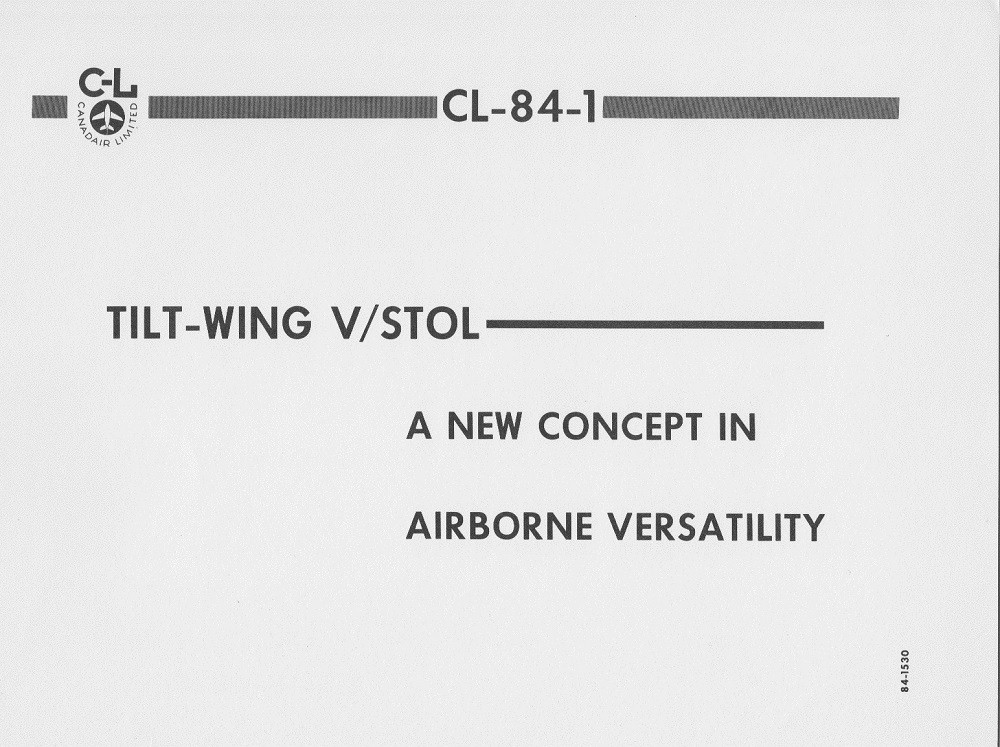 CANADAIR CL-84-1 V/STOL AIRCRAFT PRESENTATION PAGE 15