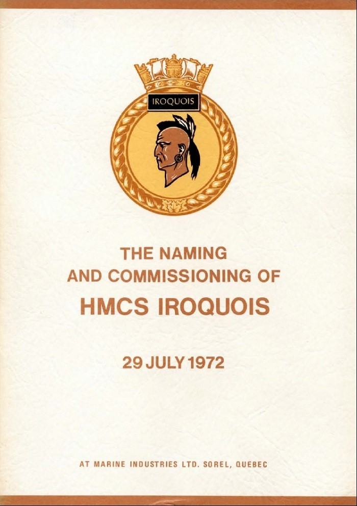 HMCS IROQUOIS 280 COMMISSIONING BOOKLET - COVER