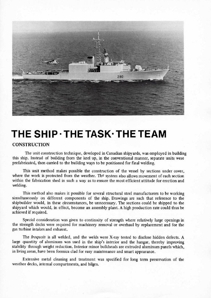 HMCS IROQUOIS 280 COMMISSIONING BOOKLET - PAGE 5