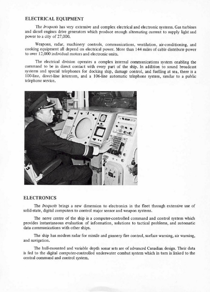 HMCS IROQUOIS 280 COMMISSIONING BOOKLET - PAGE 8