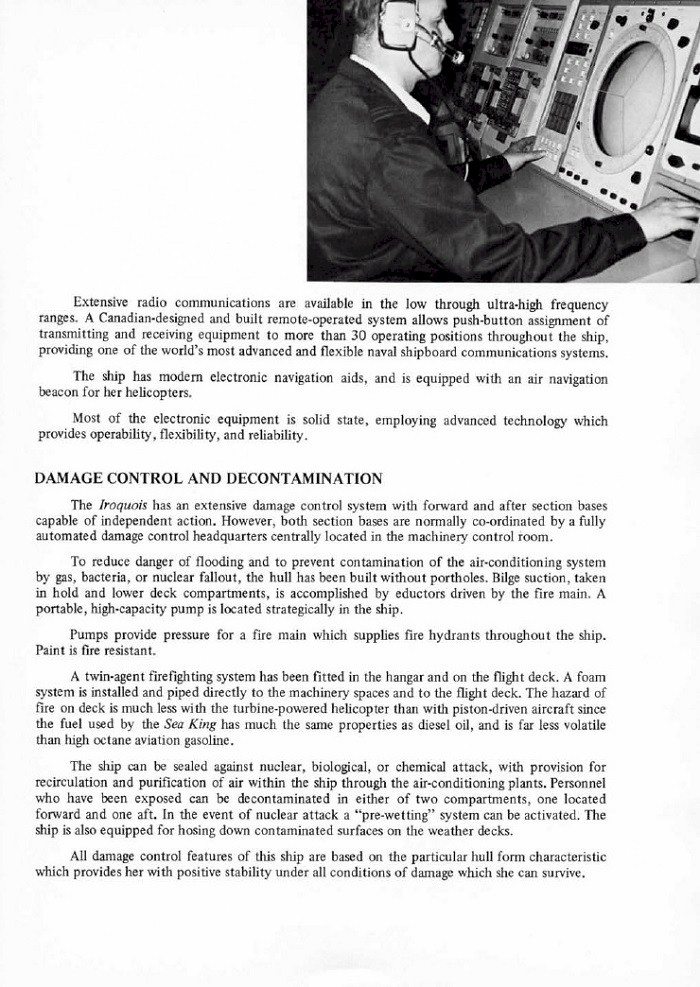 HMCS IROQUOIS 280 COMMISSIONING BOOKLET - PAGE 9