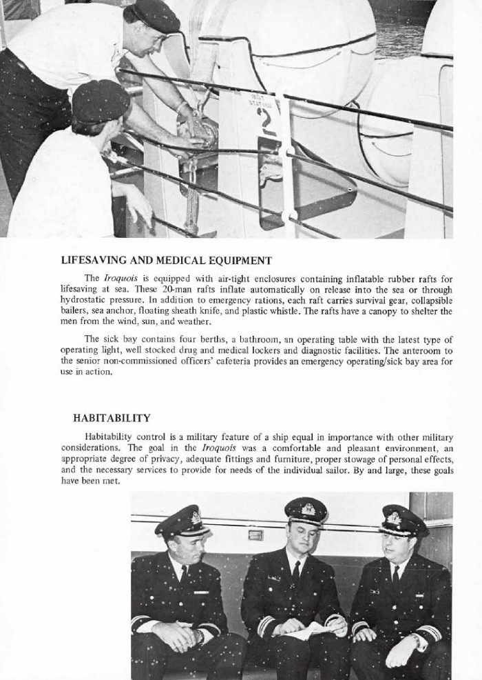 HMCS IROQUOIS 280 COMMISSIONING BOOKLET - PAGE 10