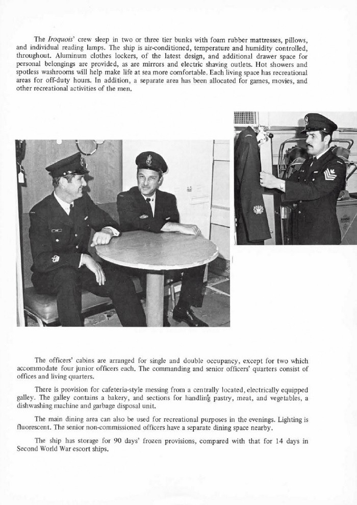 HMCS IROQUOIS 280 COMMISSIONING BOOKLET - PAGE 11