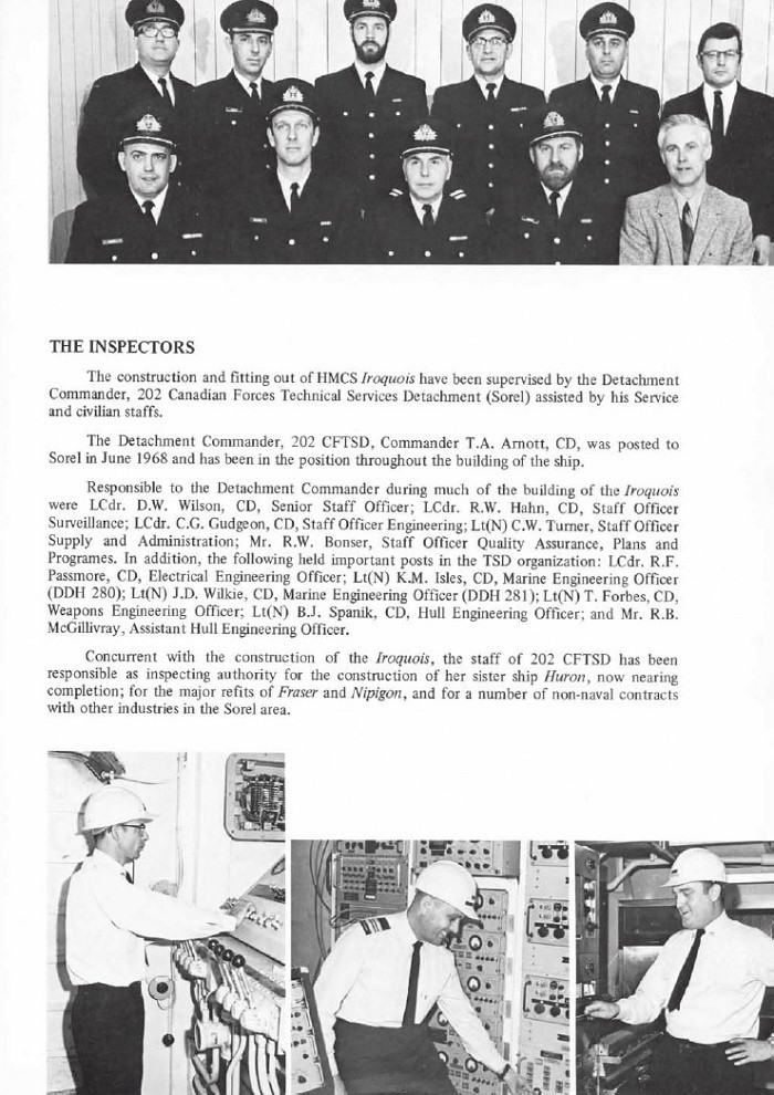 HMCS IROQUOIS 280 COMMISSIONING BOOKLET - PAGE 15