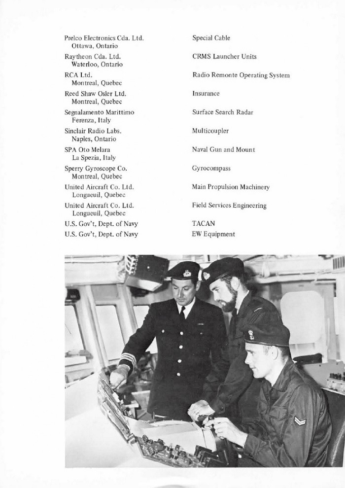 HMCS IROQUOIS 280 COMMISSIONING BOOKLET - PAGE 19