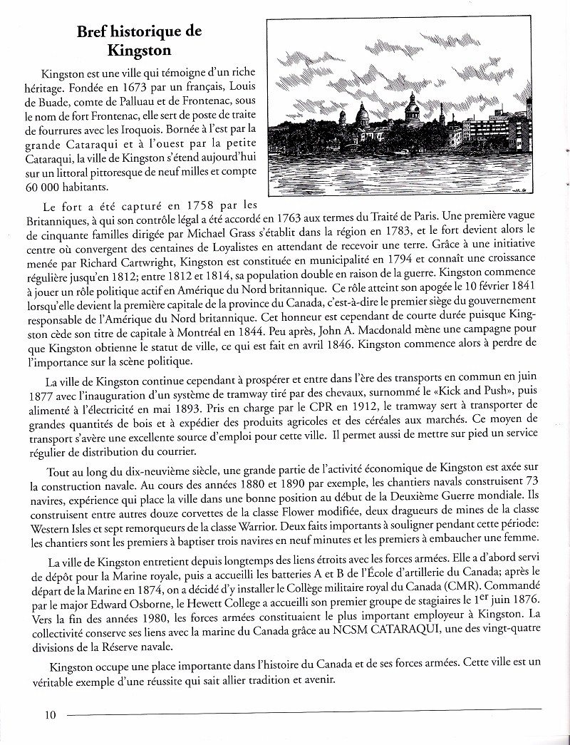 HMCS KINGSTON 700 - COMMISSIONING BOOKLET - PAGE 10