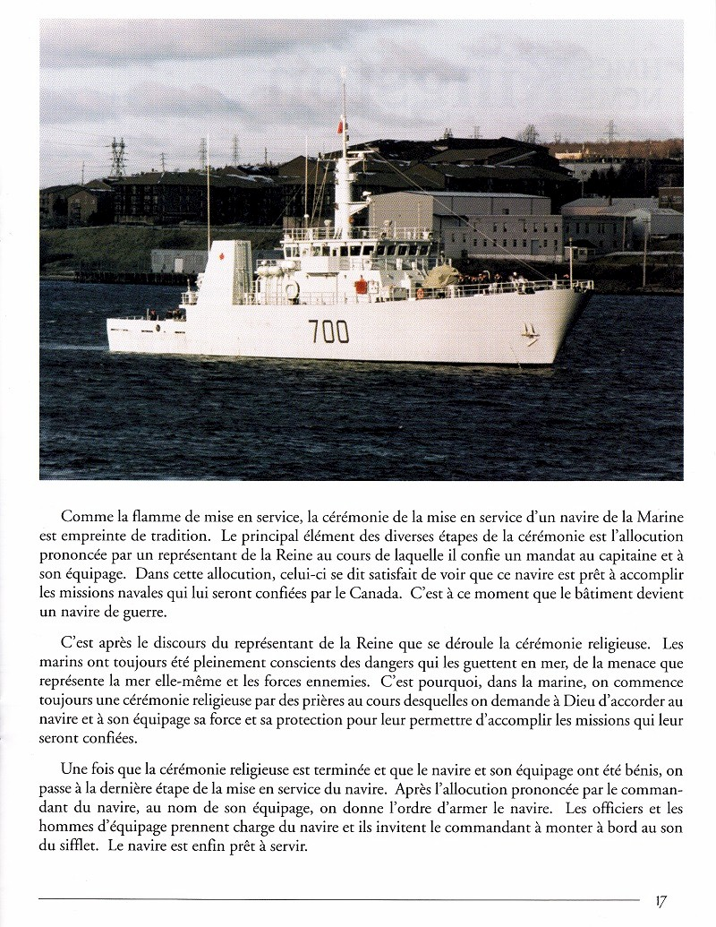 HMCS KINGSTON 700 - COMMISSIONING BOOKLET - PAGE 17