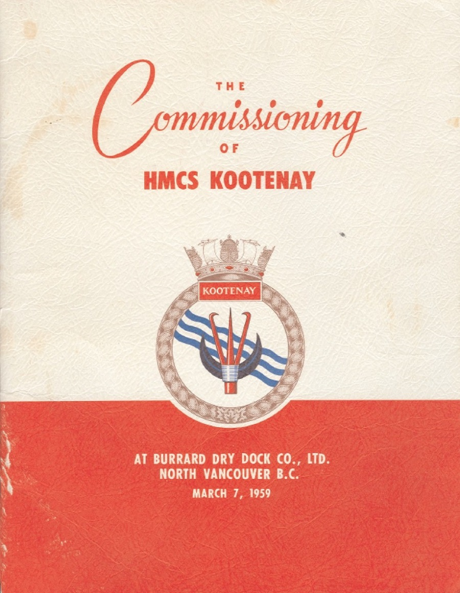 HMCS KOOTENAY 258 - Commissioning Booklet - Cover