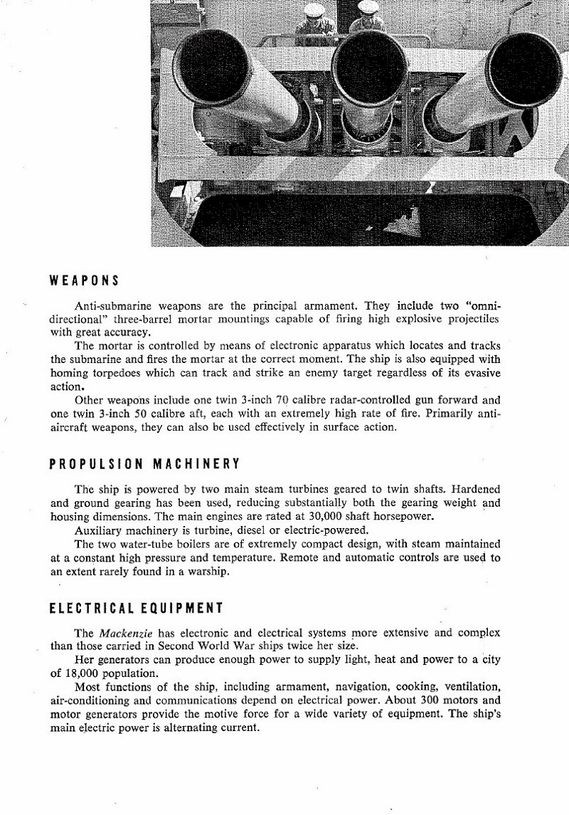 HMCS MACKENZIE 261 Commissioning Booklet - Page 5