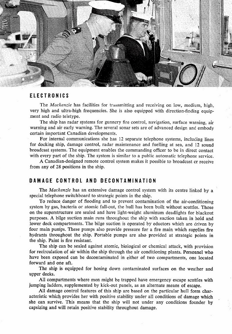 HMCS MACKENZIE 261 Commissioning Booklet - Page 6