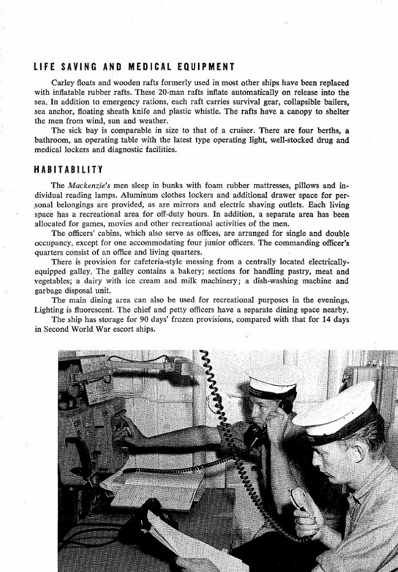 HMCS MACKENZIE 261 Commissioning Booklet - Page 7