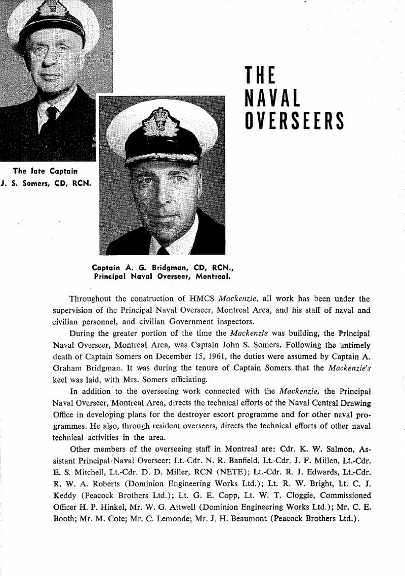 HMCS MACKENZIE 261 Commissioning Booklet - Page 8