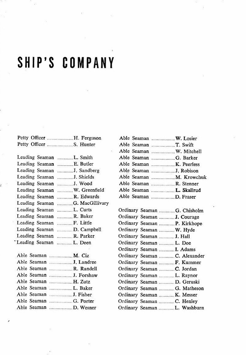 HMCS MACKENZIE 261 Commissioning Booklet - Page 17