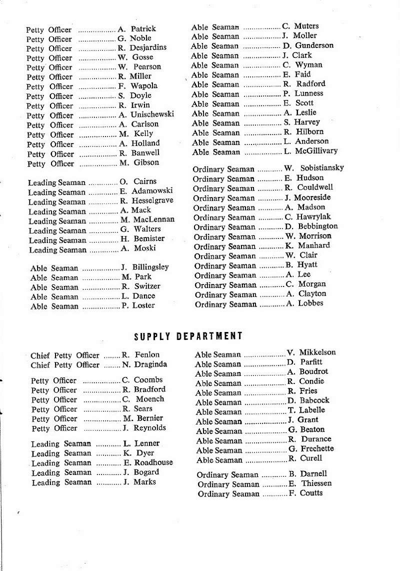 HMCS MACKENZIE 261 Commissioning Booklet - Page 19