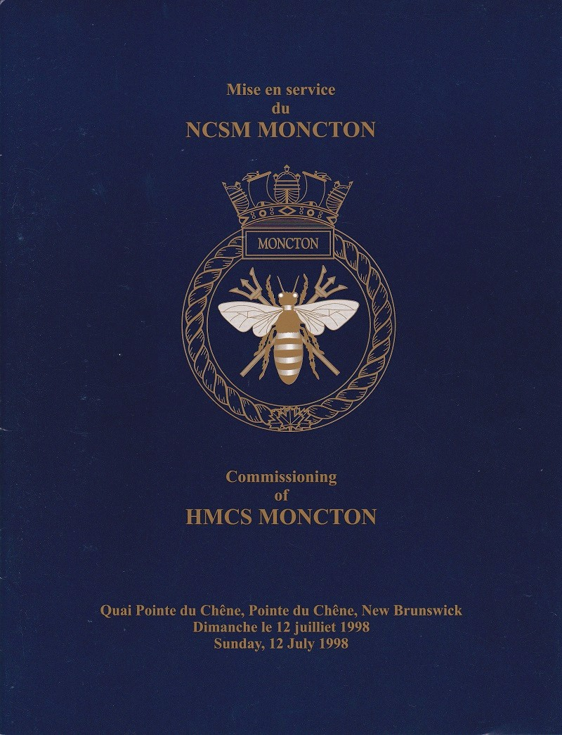 HMCS MONCTON 708 - COMMISSIONING BOOKLET - Cover