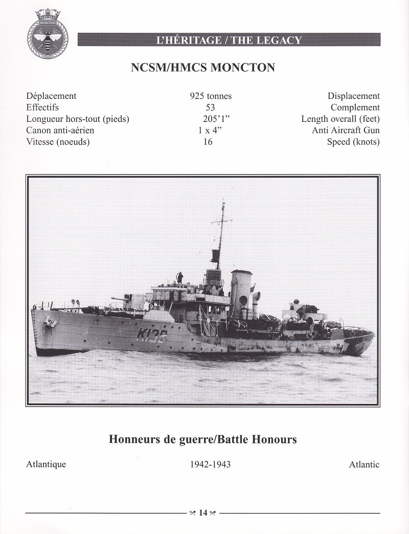 HMCS MONCTON 708 - COMMISSIONING BOOKLET - PAGE 14