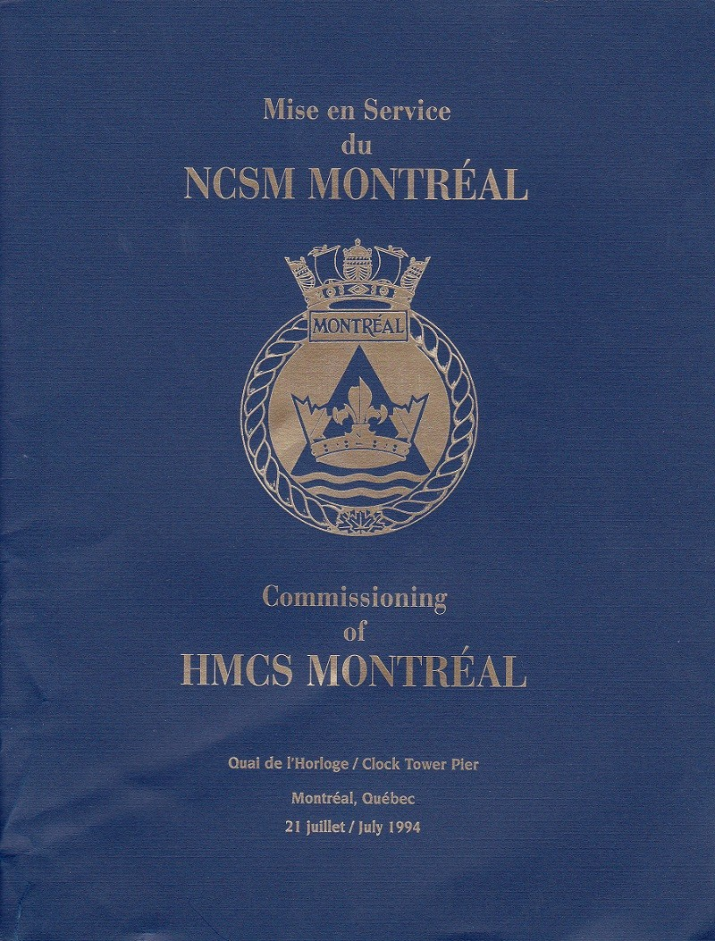 HMCS MONTREAL 336 - COMMISSIONING BOOK - Cover