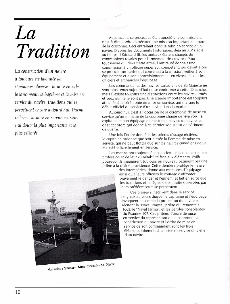 HMCS MONTREAL 336 - COMMISSIONING BOOK - Page 10