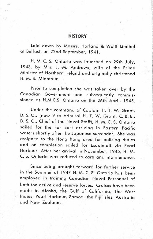 HMCS ONTARIO - Memento of the Visit of Princess Elizabeth and the Duke of Edinburgh - Page 2
