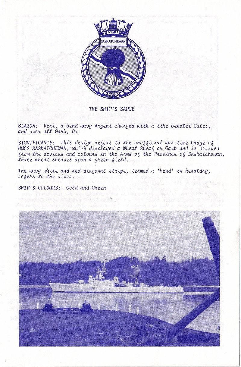 HMCS SASKATCHEWAN 262 REACTIVATION CEREMONY 25 fEB 1986 - PAGE 3