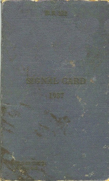 1937 Signal Card - Cover