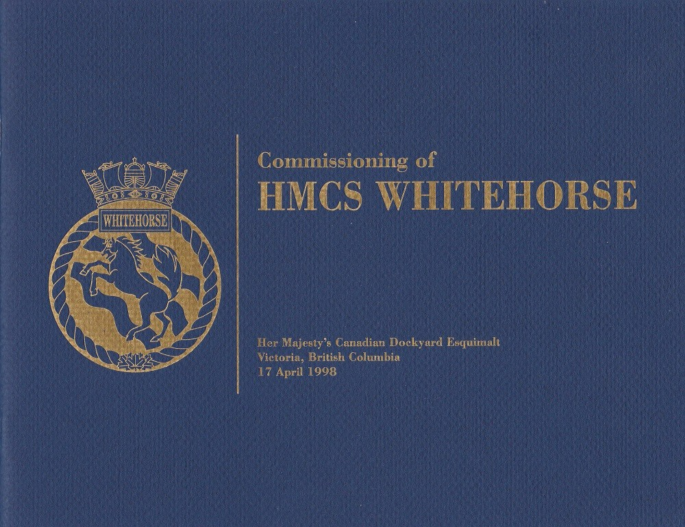 HMCS WHITEHORSE 705 COMMISSIONING BOOKLET - Cover