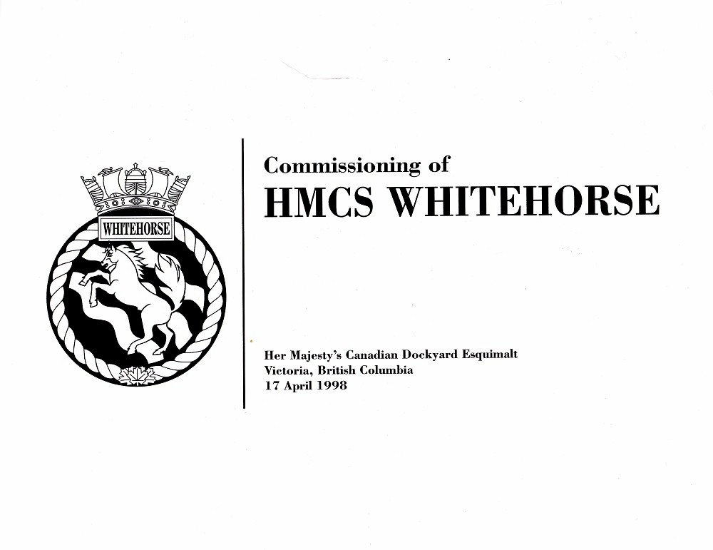 HMCS WHITEHORSE 705 COMMISSIONING BOOKLET - Page 1
