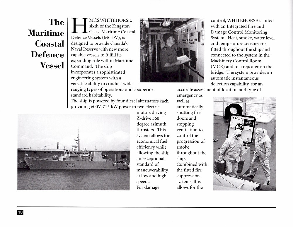 HMCS WHITEHORSE 705 COMMISSIONING BOOKLET - Page 18
