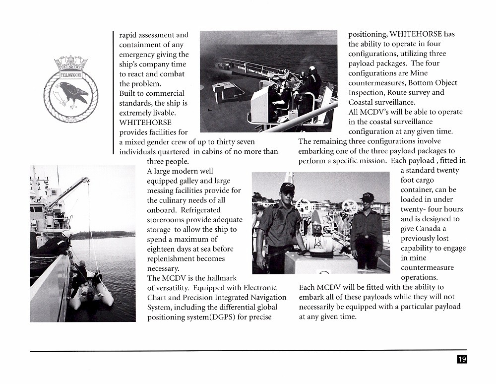 HMCS WHITEHORSE 705 COMMISSIONING BOOKLET - Page 19