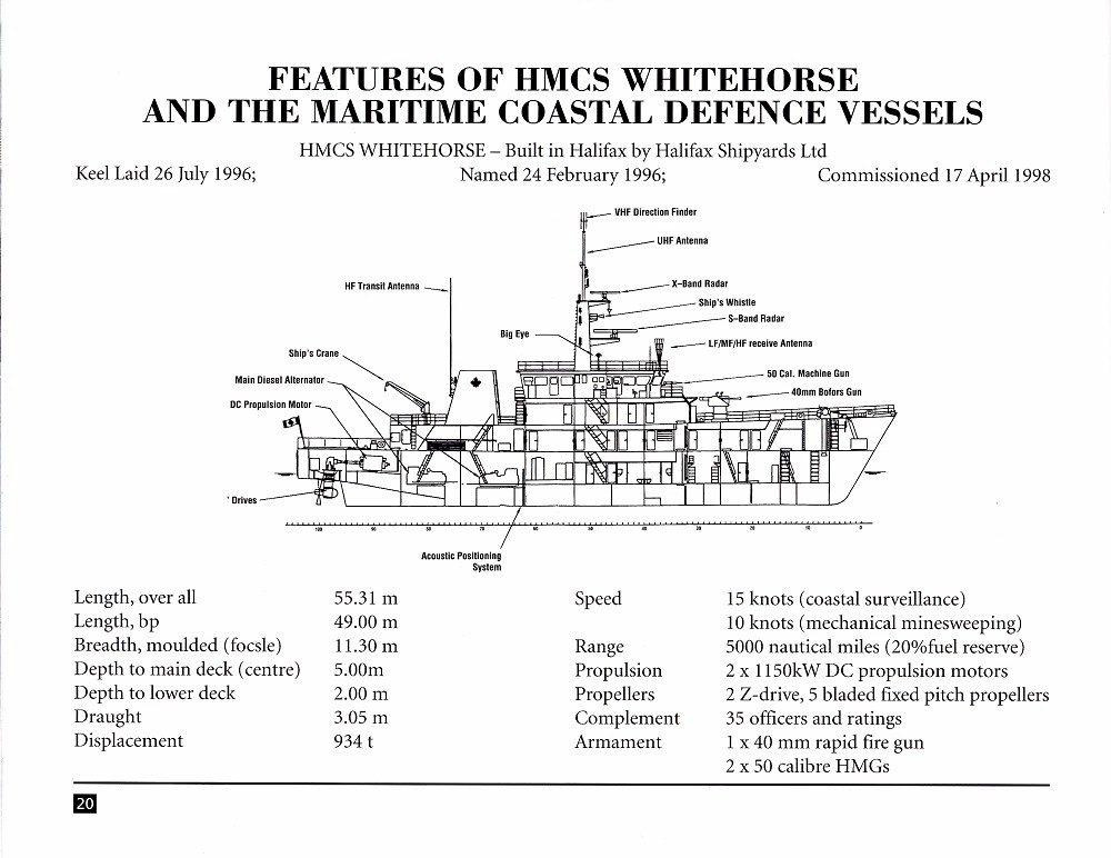 HMCS WHITEHORSE 705 COMMISSIONING BOOKLET - Page 20