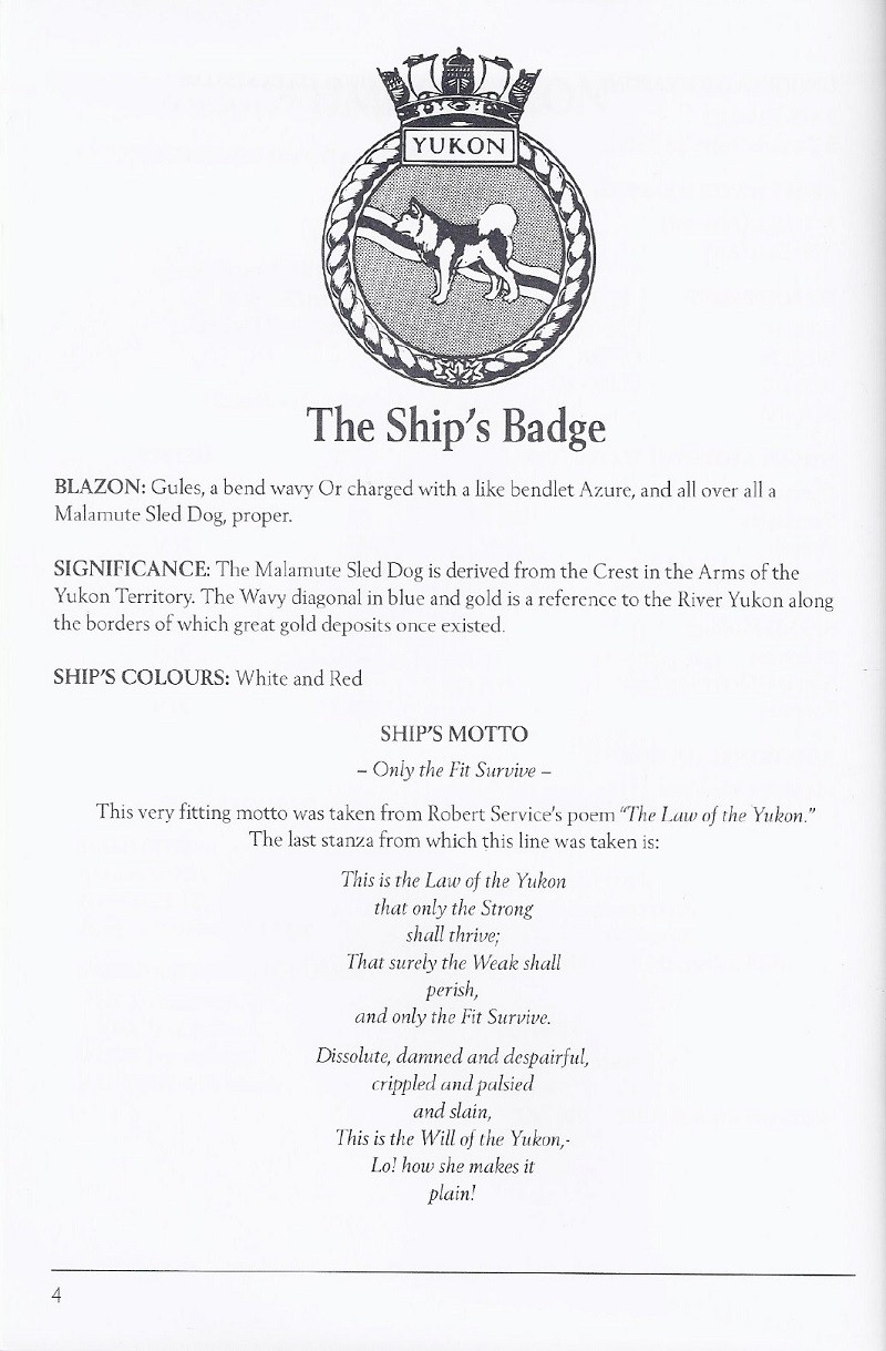 HMCS YUKON 263 PAYING OFF BOOKLET - PAGE 4