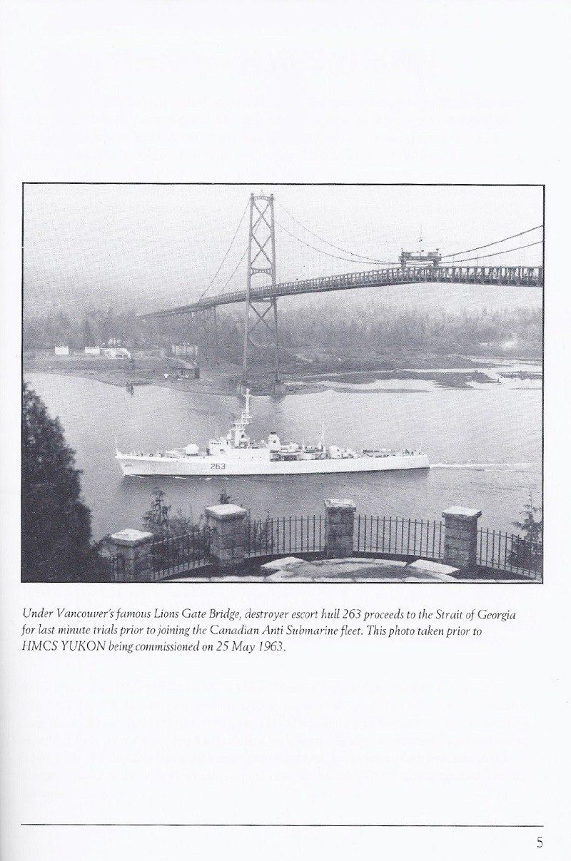 HMCS YUKON 263 PAYING OFF BOOKLET - PAGE 5