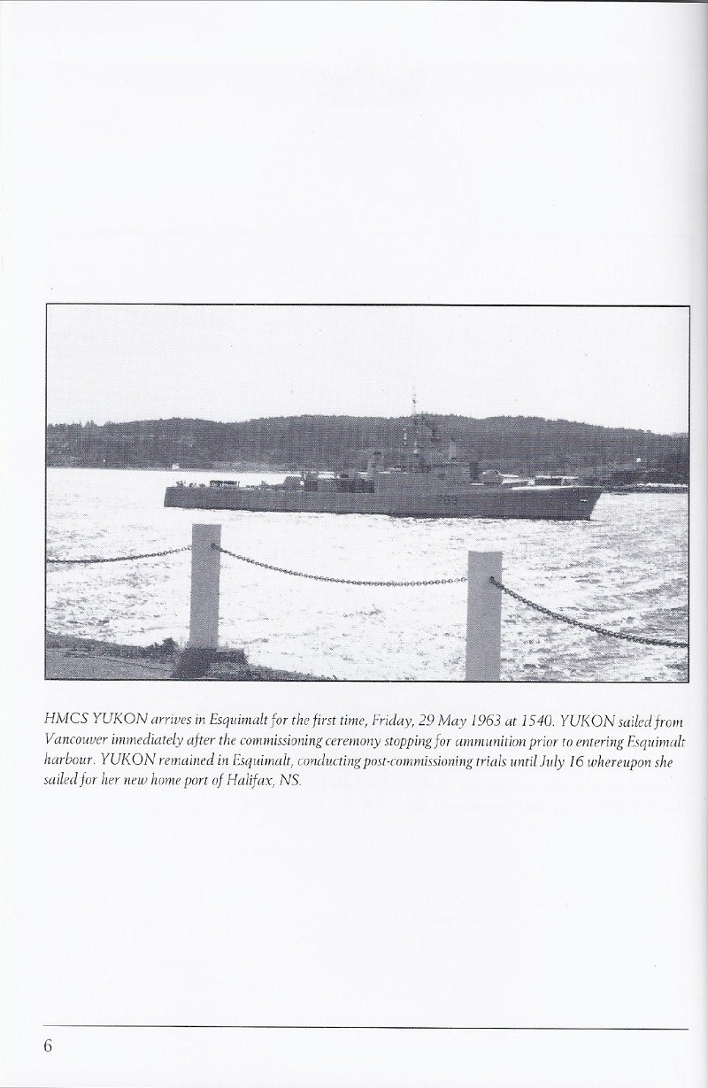 HMCS YUKON 263 PAYING OFF BOOKLET - PAGE 6