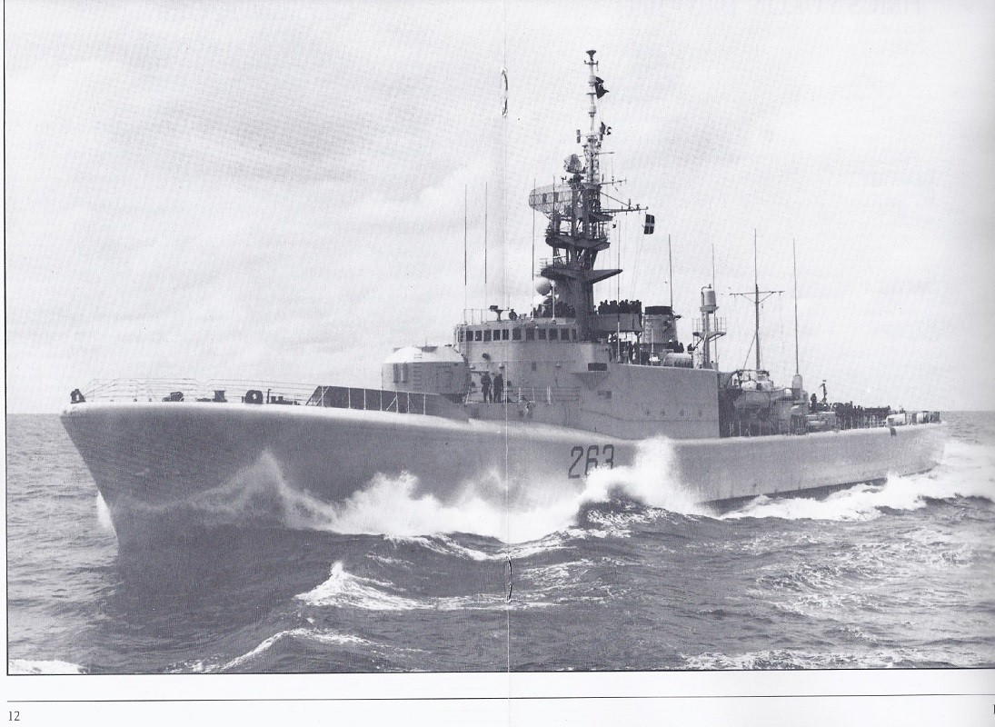 HMCS YUKON 263 PAYING OFF BOOKLET - PAGE 12 AND 13